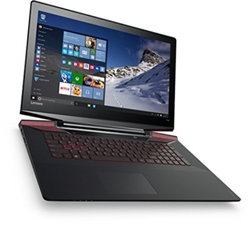 Lenovo Y700 43,9 cm (17,3 Zoll Full HD) Notebook (Intel Core i5-6300HQ Quad-Core Prozessor, 8GB RAM, 1TB HDD, 128GB SSD, GeForce GTX 960M 4GB, Windows 10 Home) schwarz -