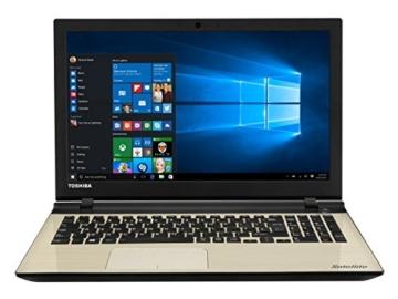 Toshiba Satellite L50-C-241 39,6 cm (15,6 Zoll Full-HD IPS) Notebook (Intel Core i5-6200U, 6GB RAM, Hybrid 1008GB SSHD, NVIDIA GeForce 930M, DVD, Win 10) Gold -