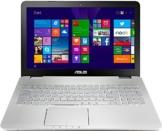 Asus N551JW-CN092T 39,6 cm (15,6 Zoll, mattes FHD) Notebook (Intel Core i7-4720HQ, 8GB RAM, 1TB HDD + 24GB SSD, NVIDIA GF GTX960M, Blu-ray, Win 10 Home) silber -